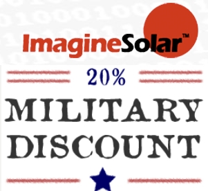 In honor of our service members, ImagineSolar offers active duty, reserve, and veteran military members and their immediate families a 20% discount on training courses, with a military ID.